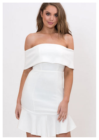 Style State 'Jenna' Off The Shoulder Bodycon Dress in White