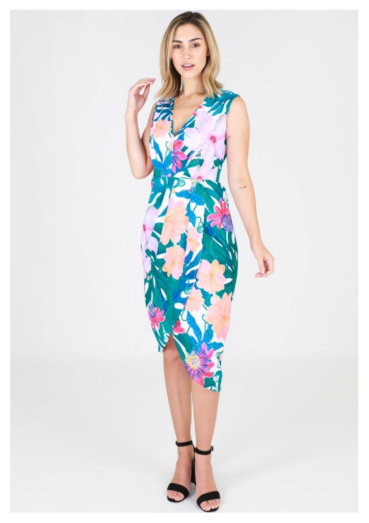 3rd Love 'Tabatha' Dress in Fern Print