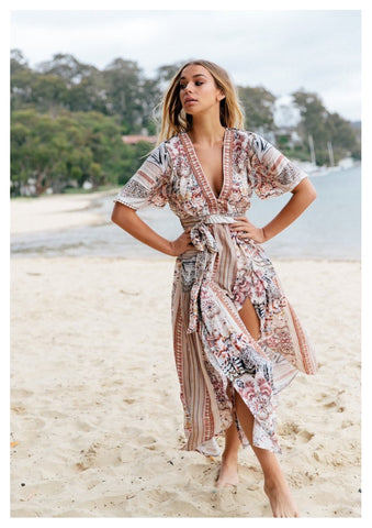 Jaase 'Becky' Maxi Dress in Nixie Print