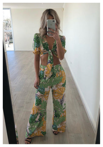 Bagira 'Canopy' Pants in Palm Print