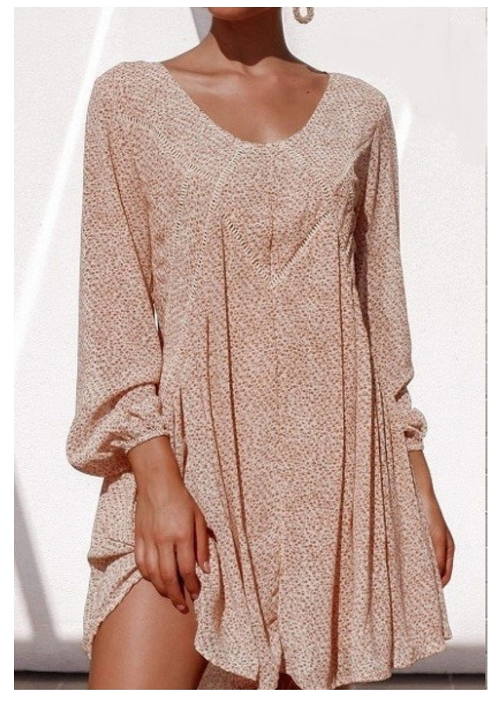 Delilah 'Poppy' Long Sleeve Tunic Dress