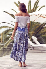 Jaase 'Cabo' Maxi Skirt in Mosaic Sky Print