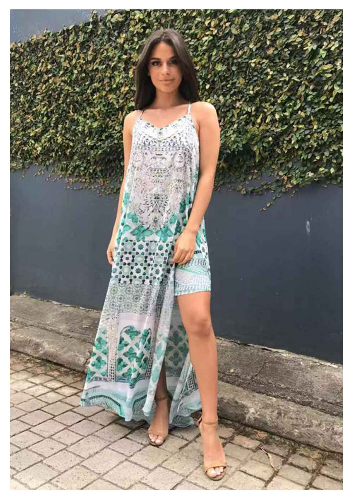 Gigi & Ella 'Siren' Maxi Dress in Emerald City