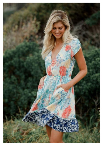 Jaase 'Love Lizzie' Dress In Coastal Print