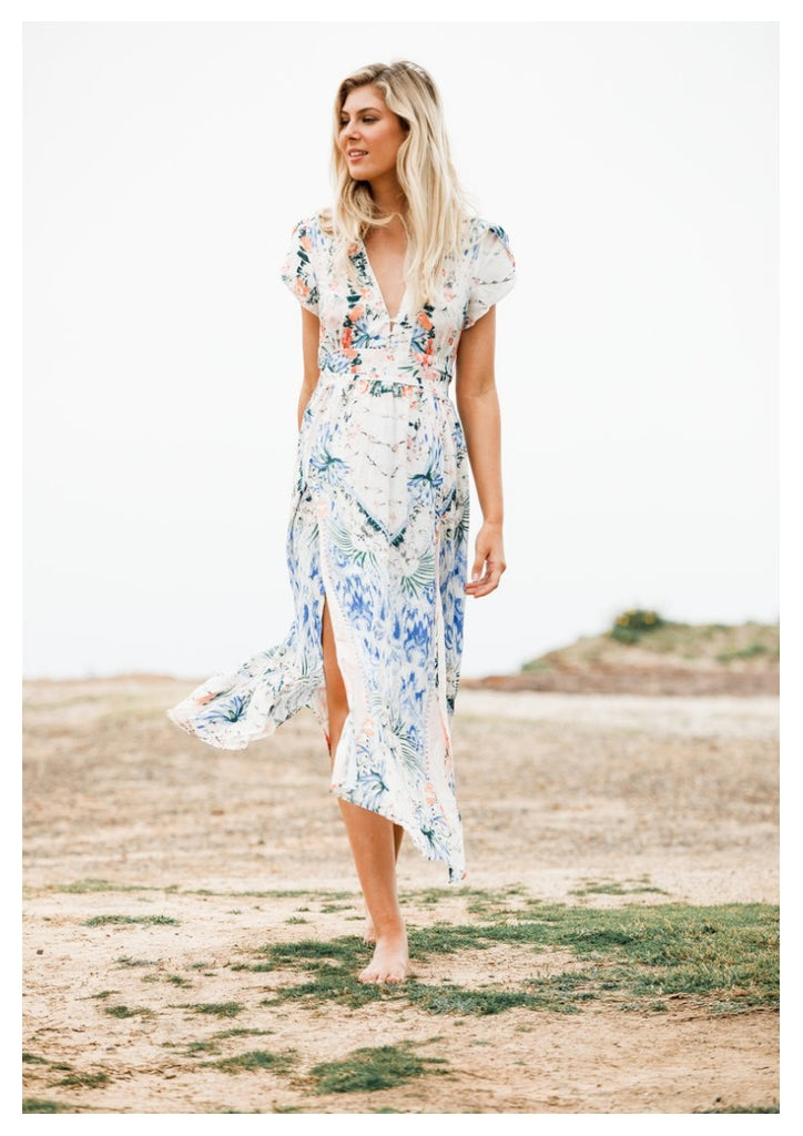 Jaase 'Becky' Maxi Dress in Caesar Print