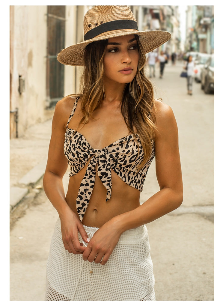 Runaway 'Safari' Tie Top in Leopard