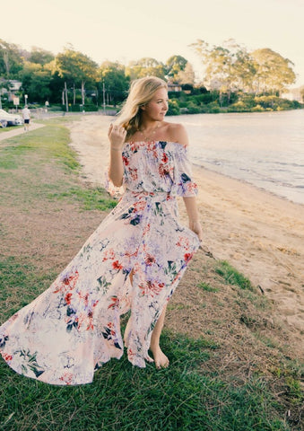 Jaase 'Leah' Maxi Dress in Waterlily Print