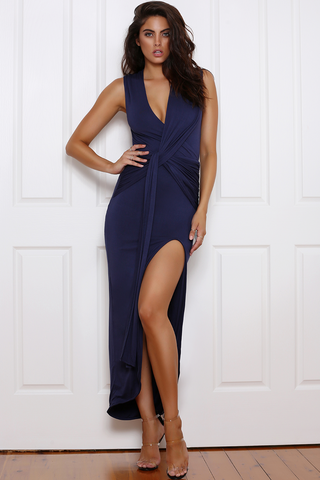 Runaway 'Aphrodite' Maxi Dress in Navy