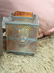 Free Spirit 'Marrakesh' Square Metal Lantern