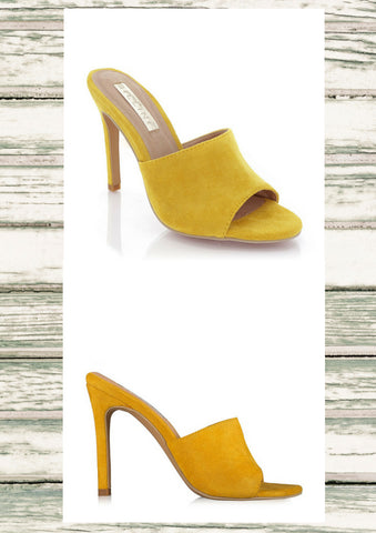 Billini 'Lidia' Yellow Suede Heel