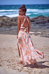 Jaase 'Endless Summer' Maxi Dress in Coral Fields Print