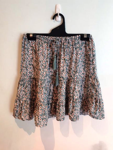 Ava 'Jemima' Skirt in Sage Flower Print
