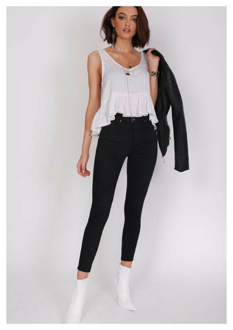 Refuge 'Gelato Legs'High Waist 7/8 Black Jeans