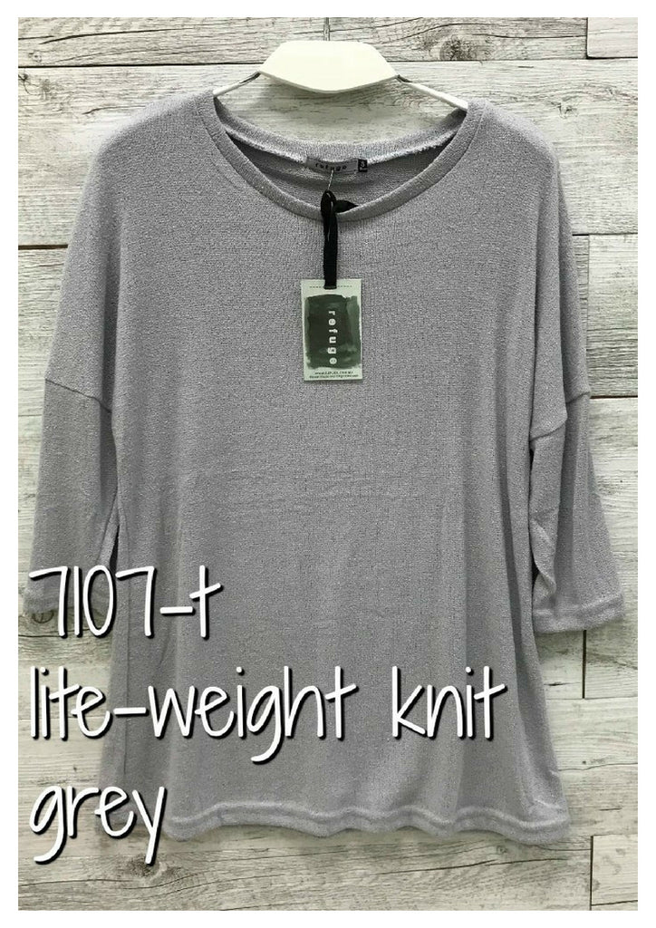 Refuge 'Abbie' Grey Knit Top
