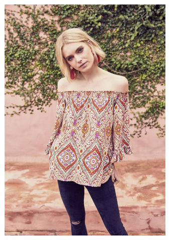 Jaase 'Clover' Top in Adina Print