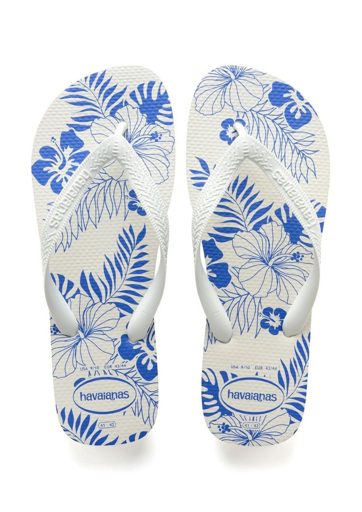 Havaianas 'Aloha' in White / Blue Star