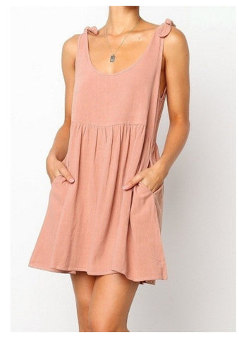House of Sienna 'Jessica' Dress in Terracotta Pink