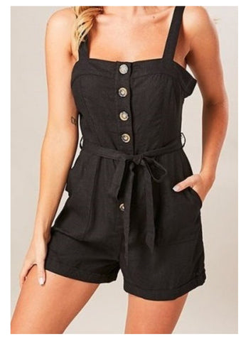 Wildfire 'Sakura' Playsuit in Black