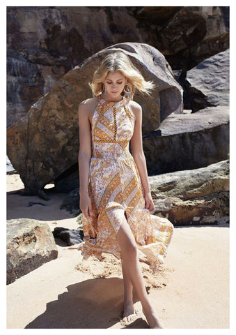 Jaase 'Endless Summer' Maxi Dress in Marigold Print
