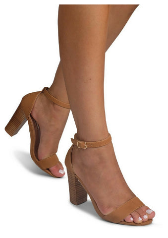 Billini 'Aurella' Block Heel in Tan Nubuck/Natural