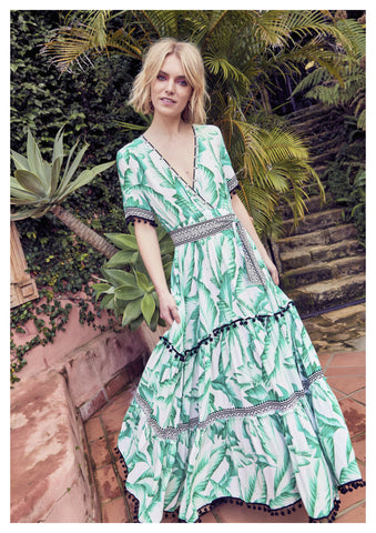Jaase 'Bamboo' Maxi Dress in Aloha Print