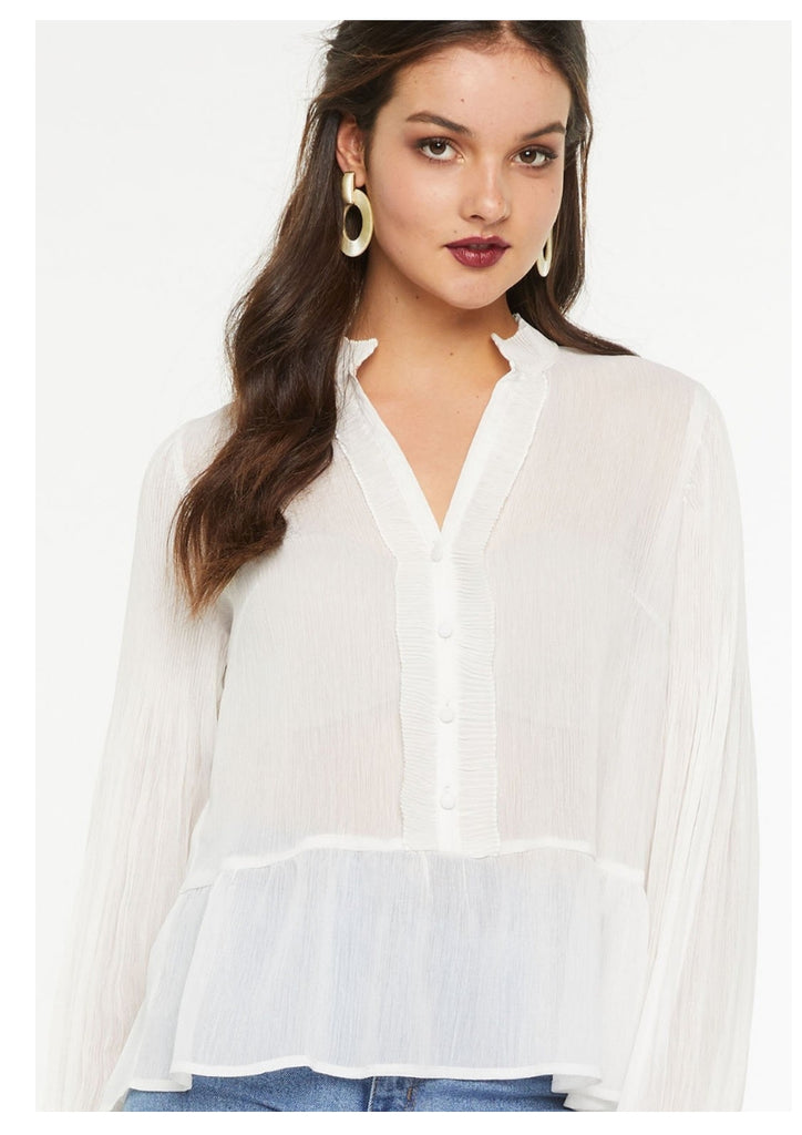 IDS 'Evie' Blouse in White