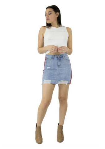 House of Sienna 'Racer' Denim Skirt