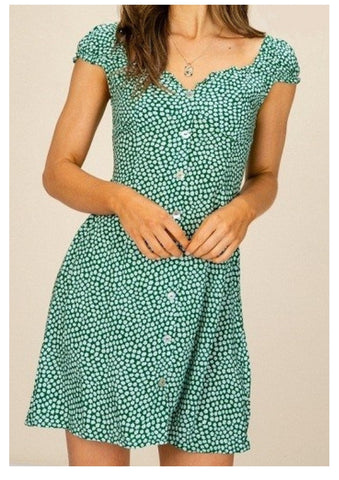 Yours Truly 'Gemma' Dress in Jade Green