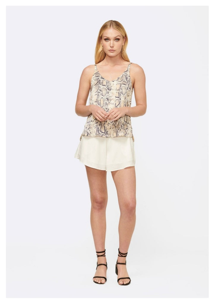 MVN 'Desert Dreams' Cami Top in Cream