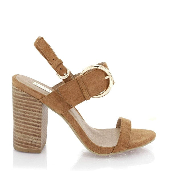 Billini 'Nala' Heels in Chestnut Suede