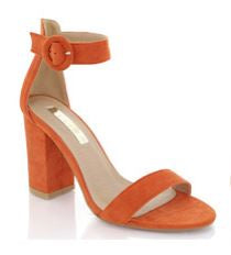 Billini 'Neiva' Orange Suede Block Heel