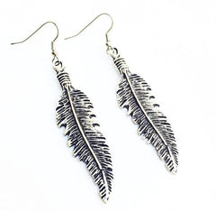 Lost Lover 'Feather' Silver Earrings
