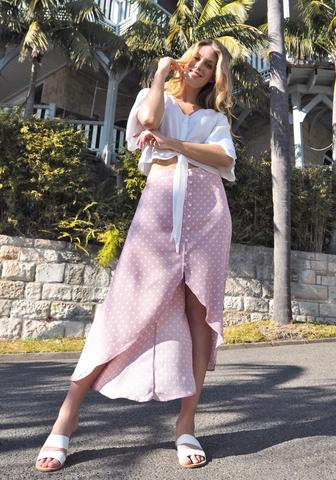 San Jose 'Havana' Skirt in Blush