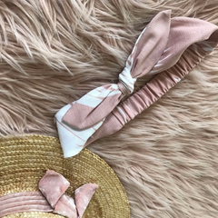Runaway 'Love Island' Headband in Pink Palm
