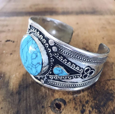 Lost Lover 'Tribal' Cuff in Turquoise