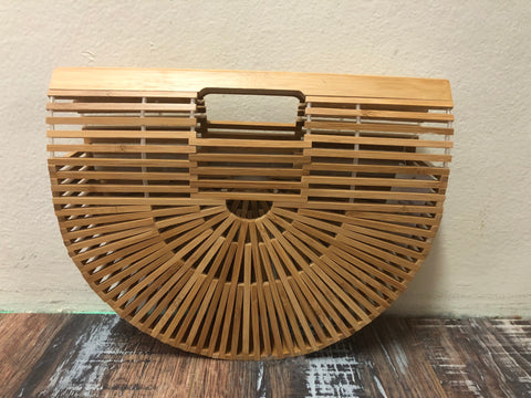 Free Spirit 'Bamboo' Vintage Basket Large Bag