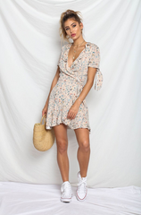 Seven Wonders 'Adeline' Wrap Dress in Blush Floral