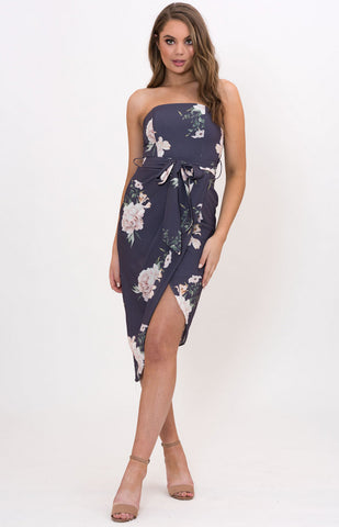 Style State Strapless Floral Dress