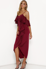 Runaway 'Crossroads' Dress in Wine