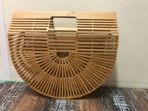 Free Spirit 'Bamboo' Vintage Basket Small Bag
