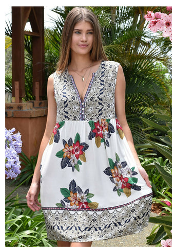 Zen Garden 'Villa' Dress in Onshore Print