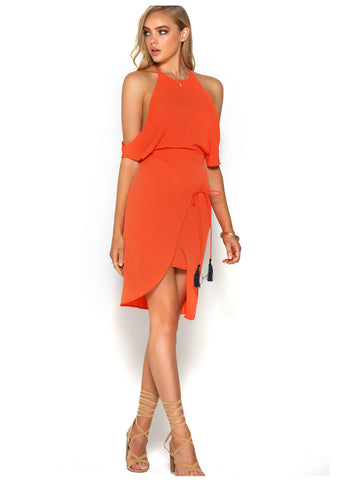 Runaway 'Talulah' Dress in Orange