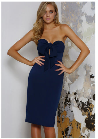 Runaway 'The Opportunist' Dress in Navy