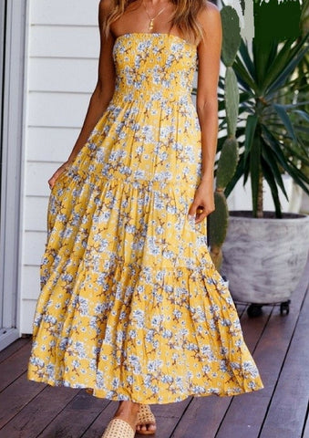 Delilah 'Tahlia' Strapless Maxi Dress