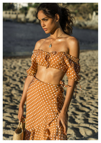 Seven Wonders 'Julia' Crop Top in Rust Spot
