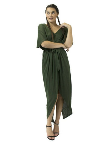House of Sienna 'Tianna' Dress in Khaki Green