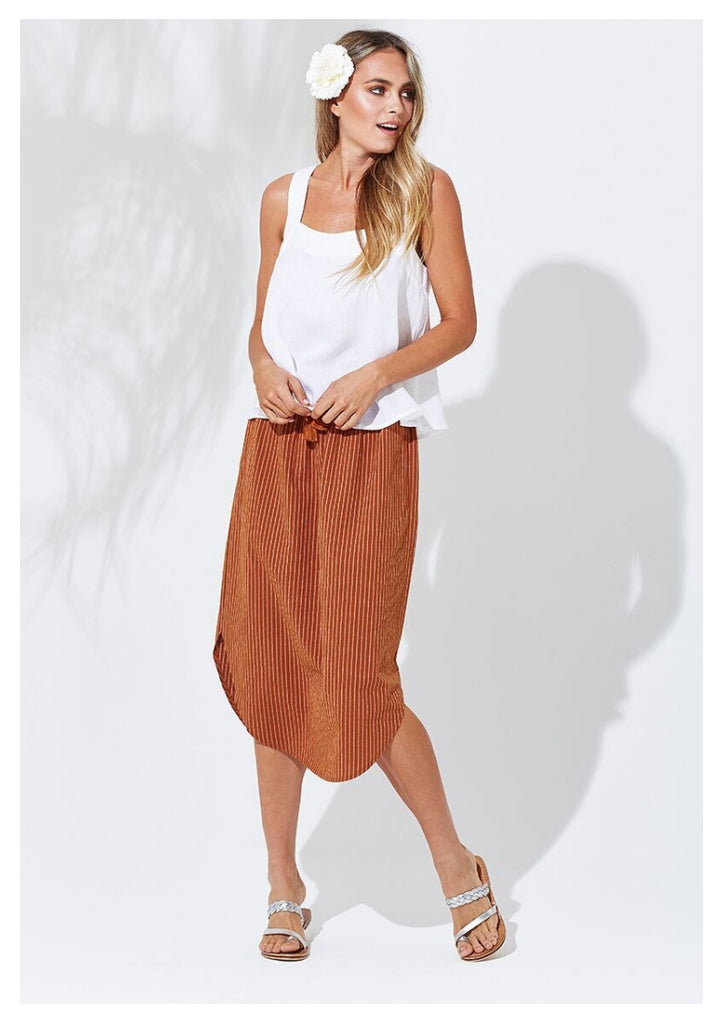 Isle of Mine 'Santorini' 3/4 Stripe Skirt