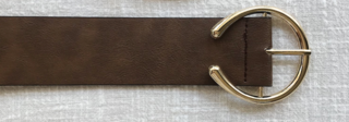 Toby Heart Ginger 'Hannah' Half Gold Buckled Belt in Brown