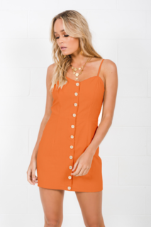 Toby Heart Ginger 'Shades of Cool' Mini Dress in Orange Sherbet