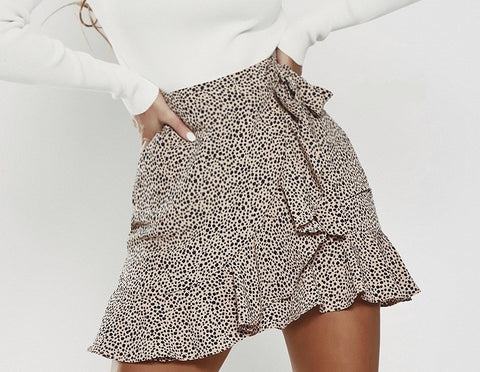 Ava 'Jordan' Skirt in Latte